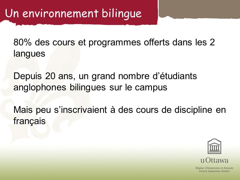 Un environnement bilingue