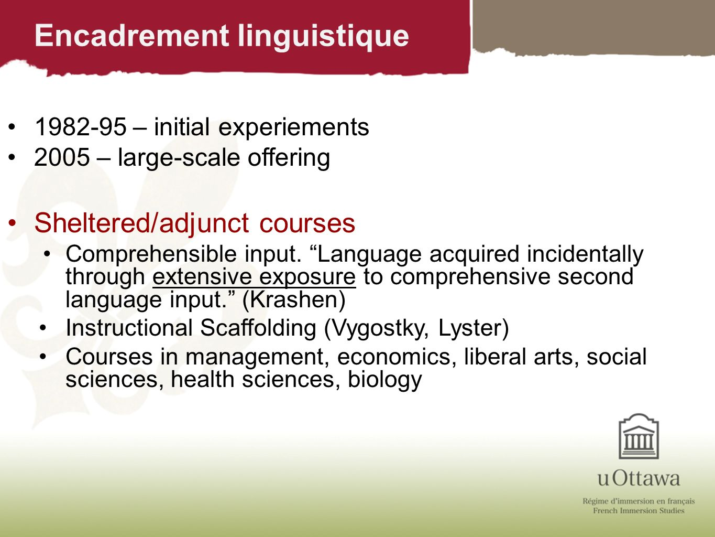Encadrement linguistique