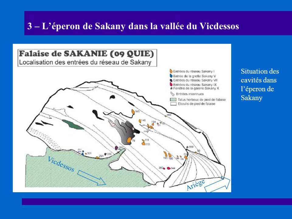 3 – L'éperon de Sakany dans la vallée du Vicdessos