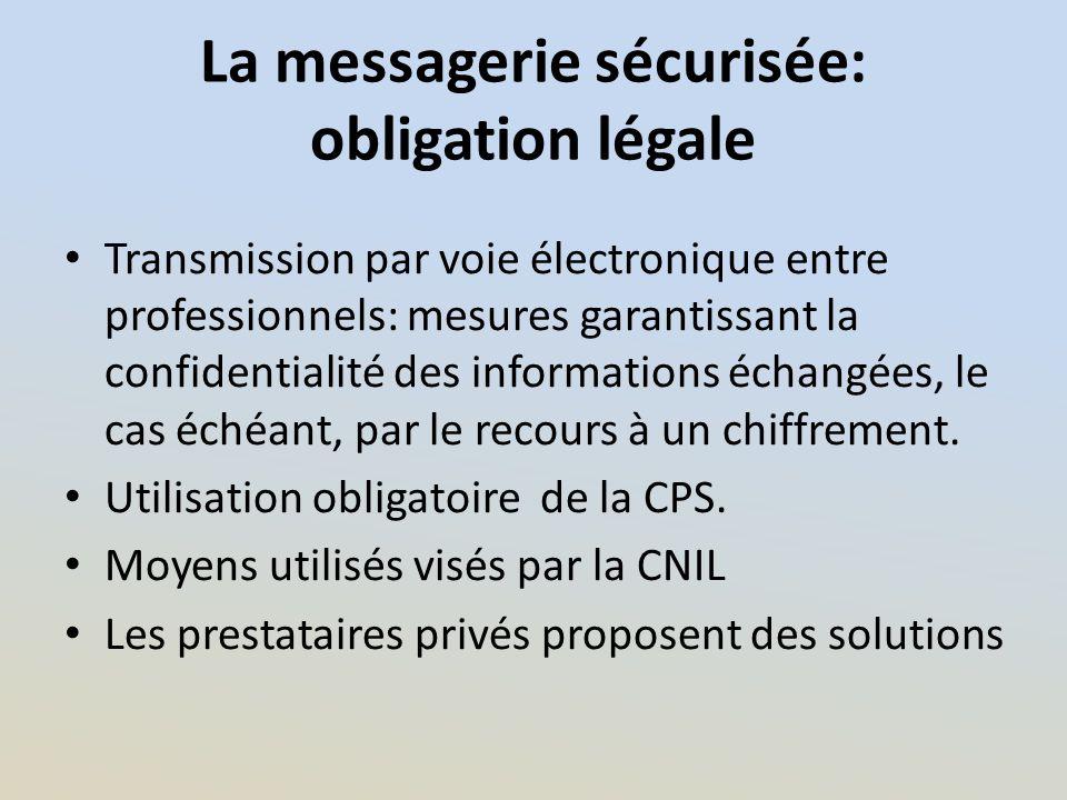 La messagerie sécurisée: obligation légale