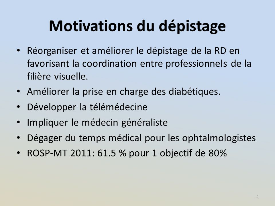 Motivations du dépistage