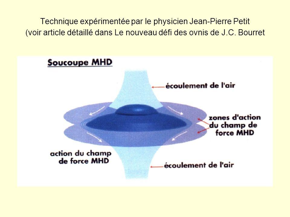 Technique expérimentée par le physicien Jean-Pierre Petit (voir article détaillé dans Le nouveau défi des ovnis de J.C.