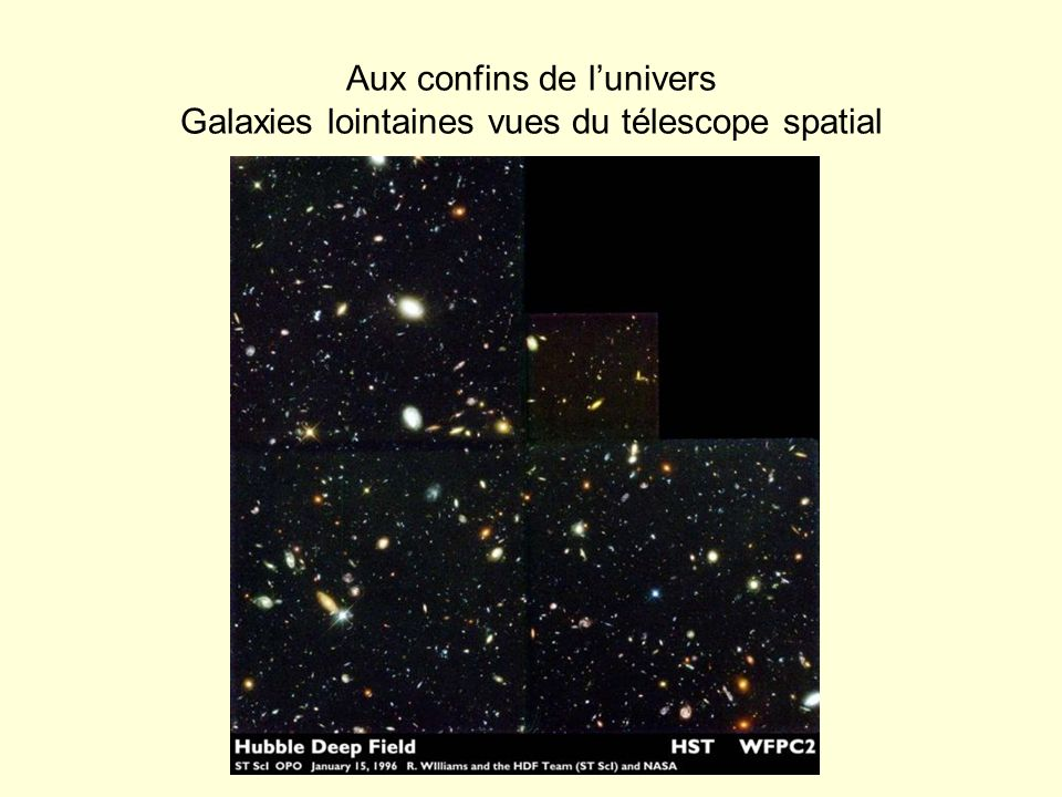 Aux confins de l'univers Galaxies lointaines vues du télescope spatial