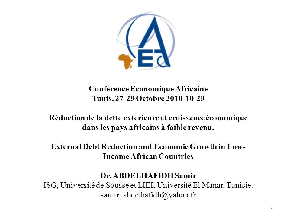 Conférence Economique Africaine Tunis, 27-29 Octobre 2010-10-20