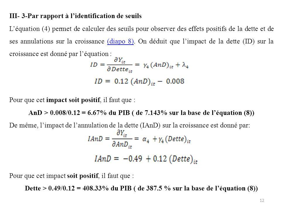 III- 3-Par rapport à l'identification de seuils