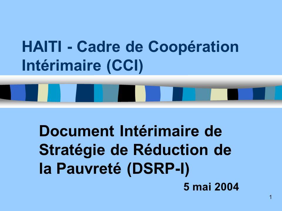 HAITI - Cadre de Coopération Intérimaire (CCI)