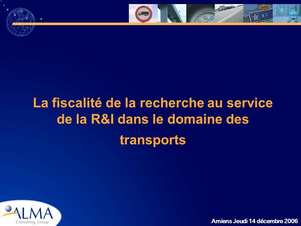 La fiscalité de la recherche au service de la R&I dans le domaine des transports