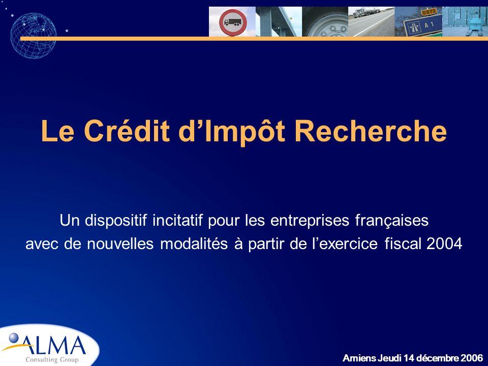 Le Crédit d'Impôt Recherche