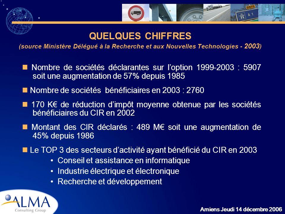 QUELQUES CHIFFRES (source Ministère Délégué à la Recherche et aux Nouvelles Technologies - 2003)