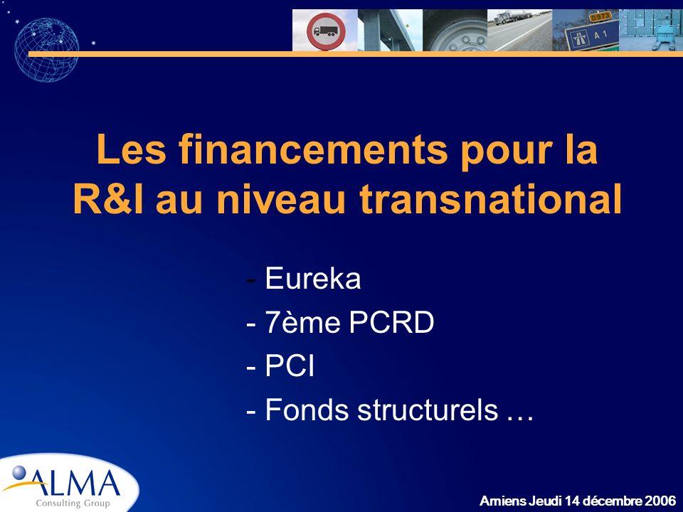 Les financements pour la R&I au niveau transnational