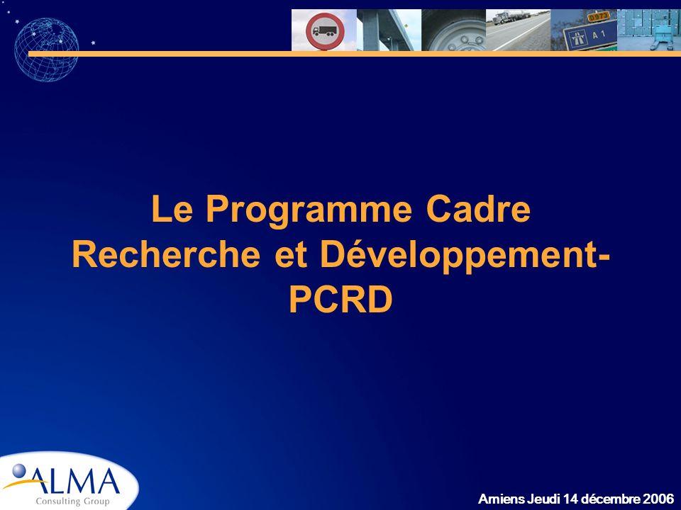 Le Programme Cadre Recherche et Développement- PCRD