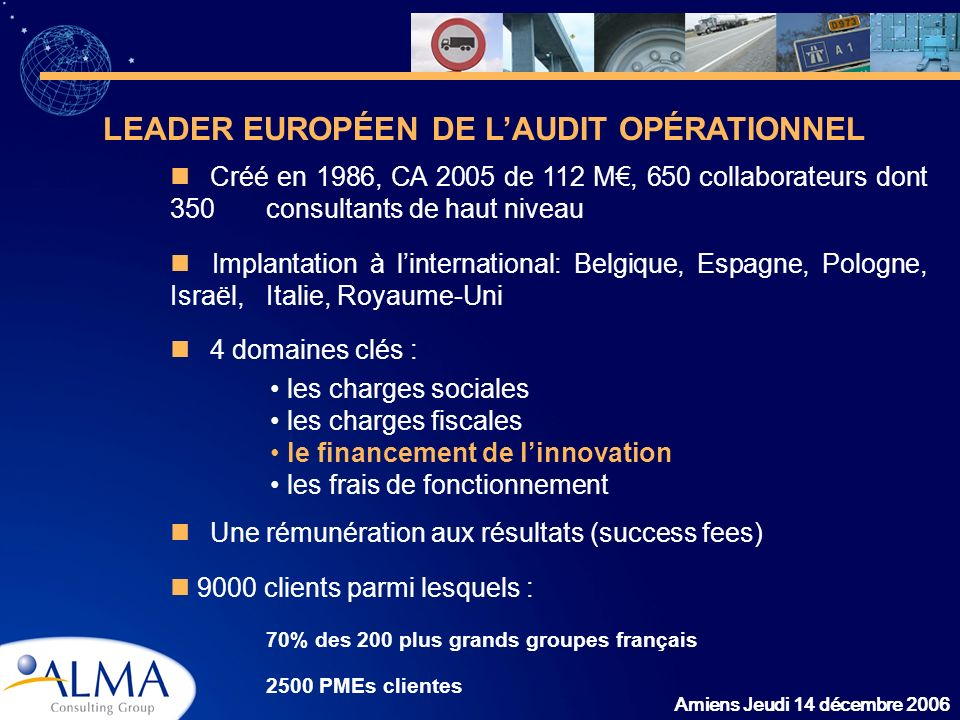 LEADER EUROPÉEN DE L'AUDIT OPÉRATIONNEL