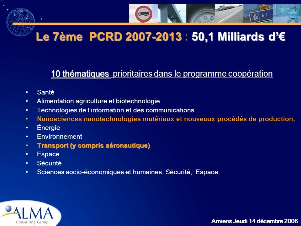 10 thématiques prioritaires dans le programme coopération