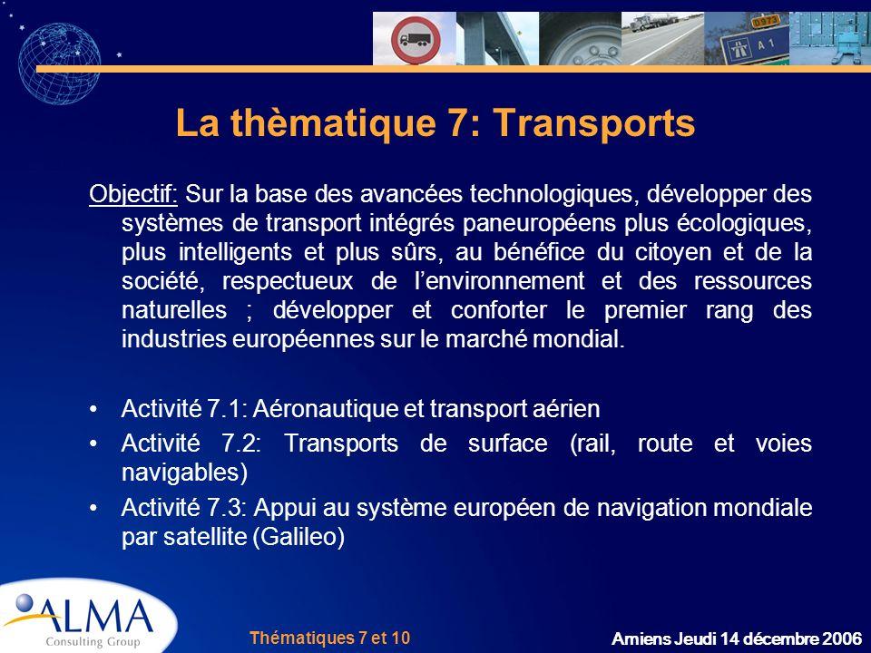 La thèmatique 7: Transports
