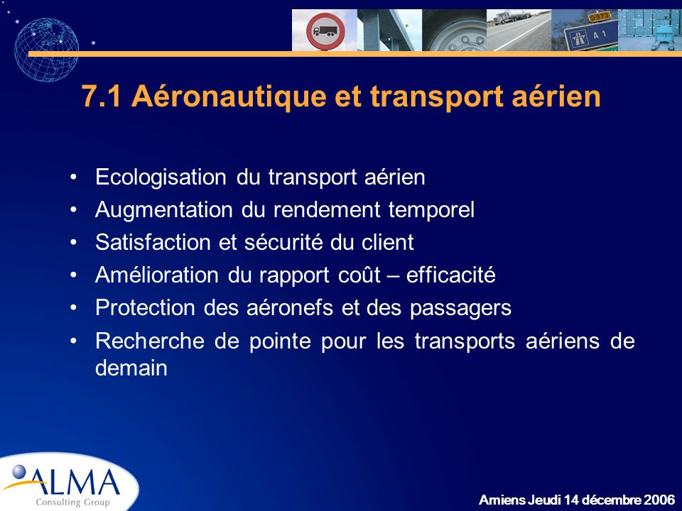 7.1 Aéronautique et transport aérien