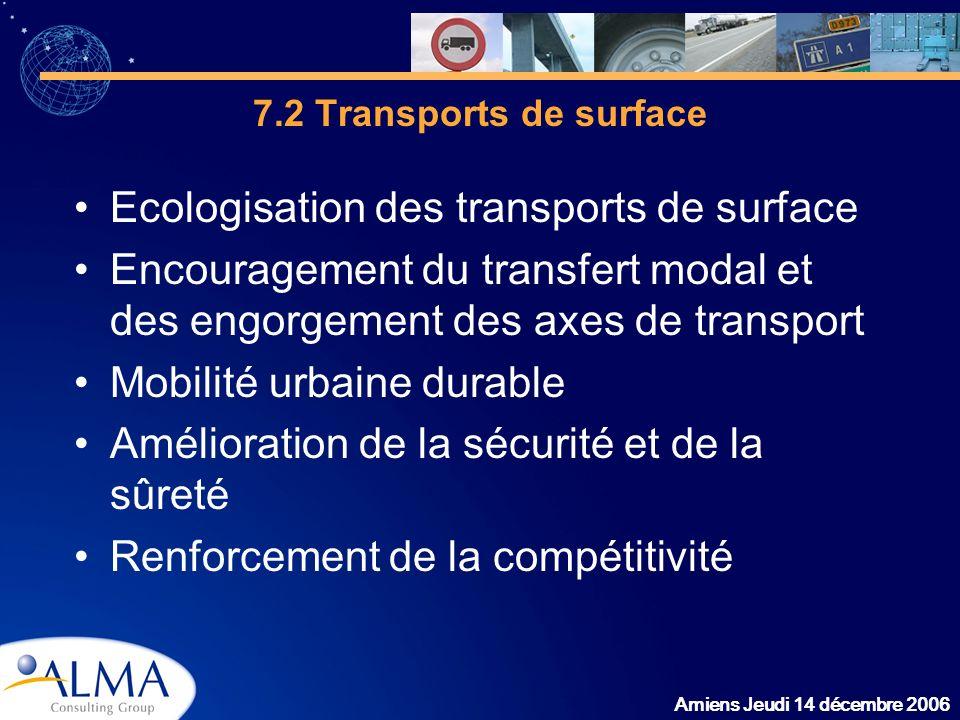 Ecologisation des transports de surface