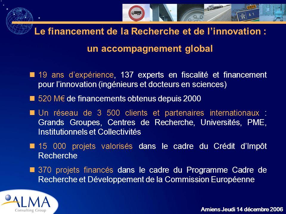 Le financement de la Recherche et de l'innovation :