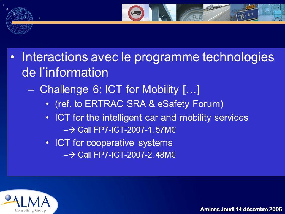 Interactions avec le programme technologies de l'information