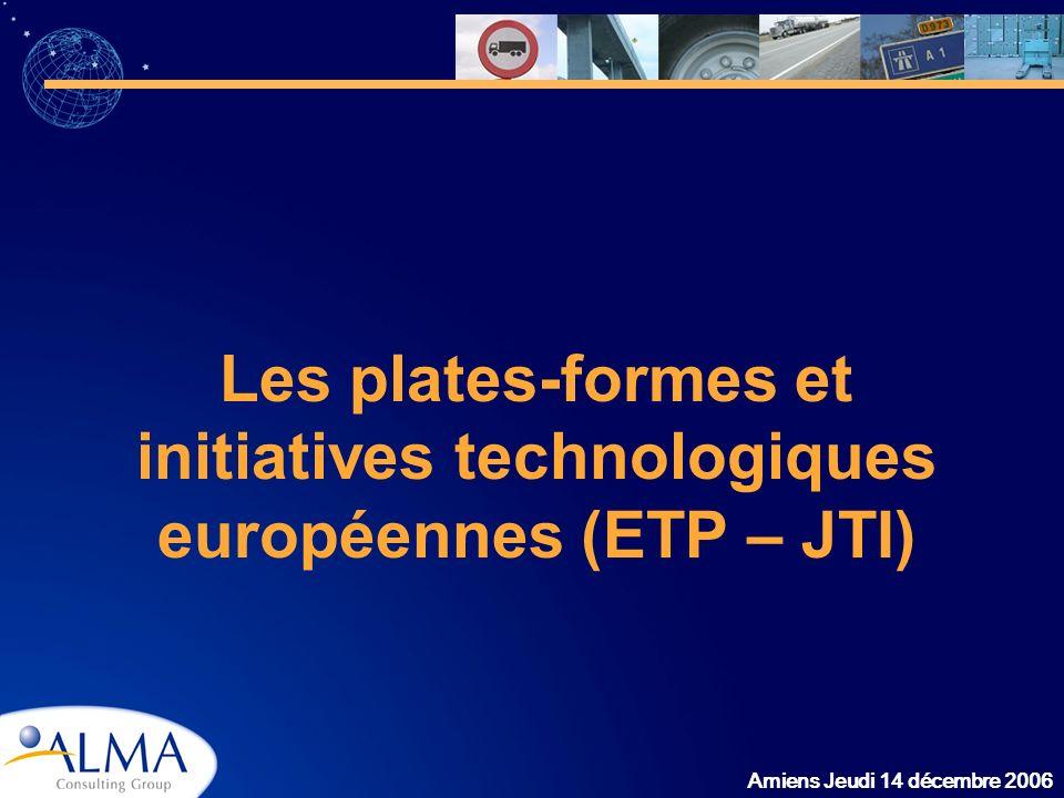 Les plates-formes et initiatives technologiques européennes (ETP – JTI)