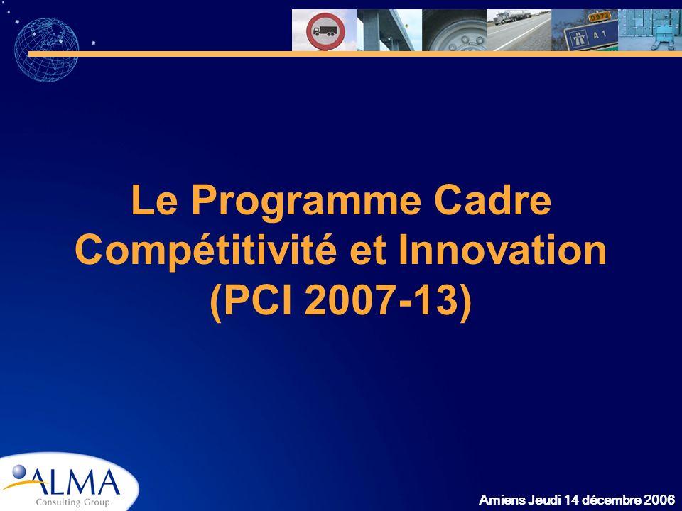 Le Programme Cadre Compétitivité et Innovation (PCI 2007-13)