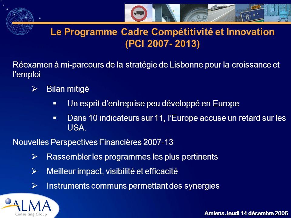 Le Programme Cadre Compétitivité et Innovation (PCI 2007- 2013)