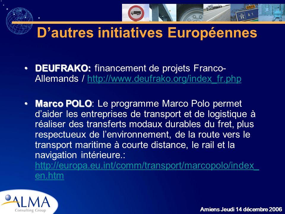 D'autres initiatives Européennes