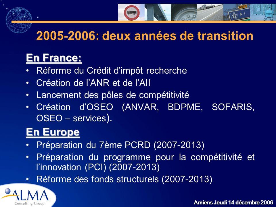 2005-2006: deux années de transition