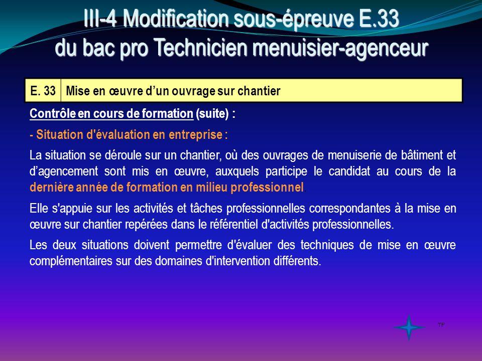 III-4 Modification sous-épreuve E
