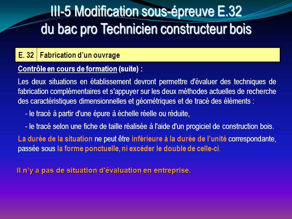 III-5 Modification sous-épreuve E