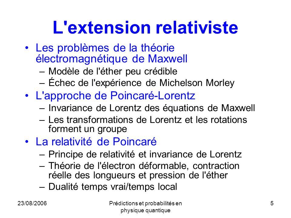 L extension relativiste