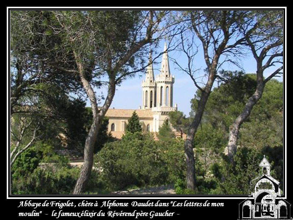 Abbaye de Frigolet , chère à Alphonse Daudet dans Les lettres de mon moulin - le fameux élixir du Révérend père Gaucher -