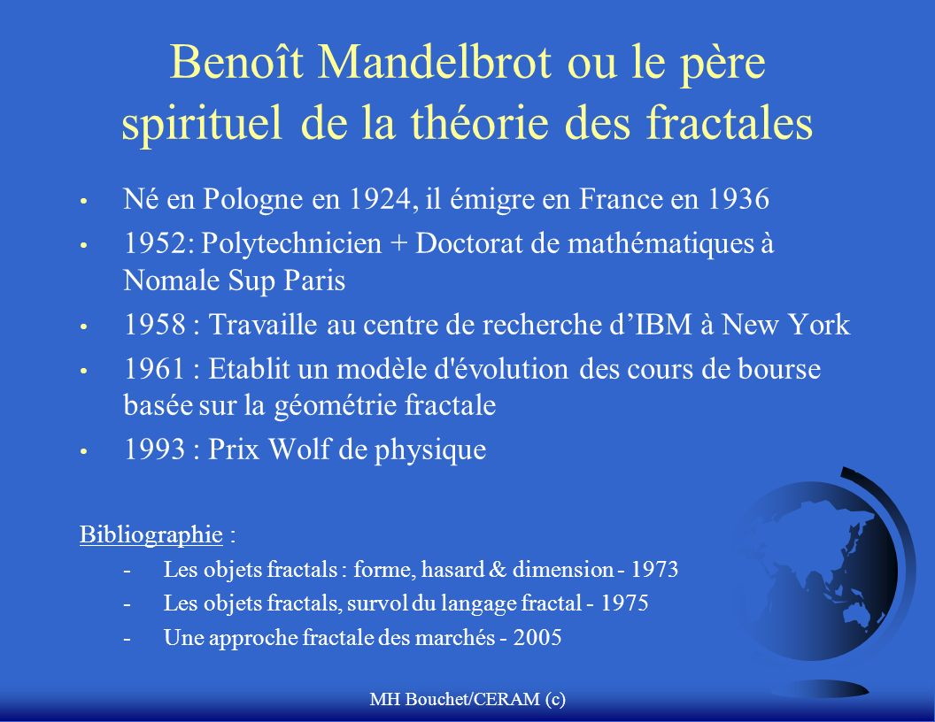 Benoît Mandelbrot ou le père spirituel de la théorie des fractales