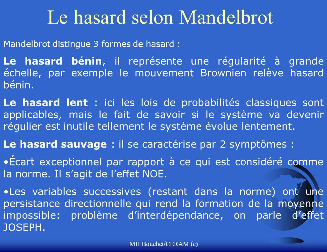 Le hasard selon Mandelbrot