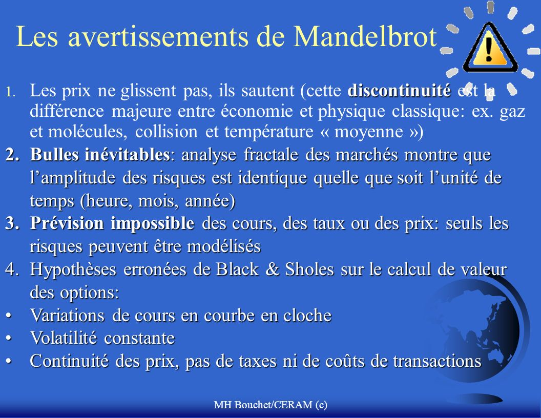 Les avertissements de Mandelbrot