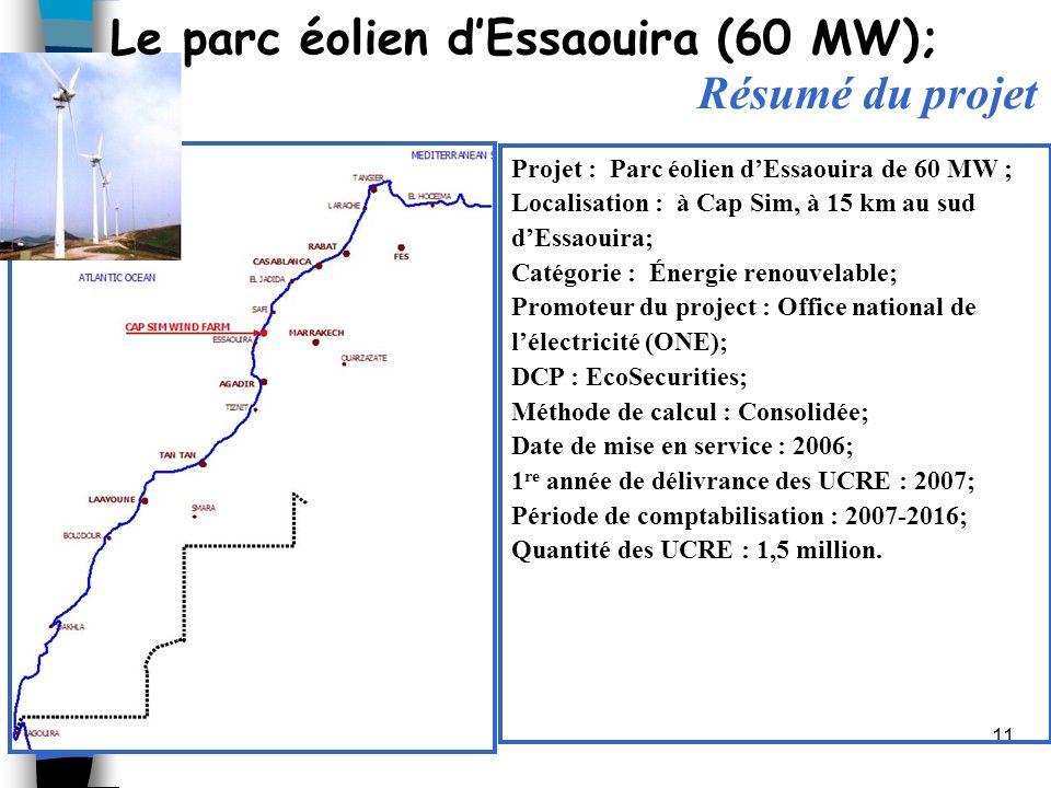Le parc éolien d'Essaouira (60 MW); Résumé du projet