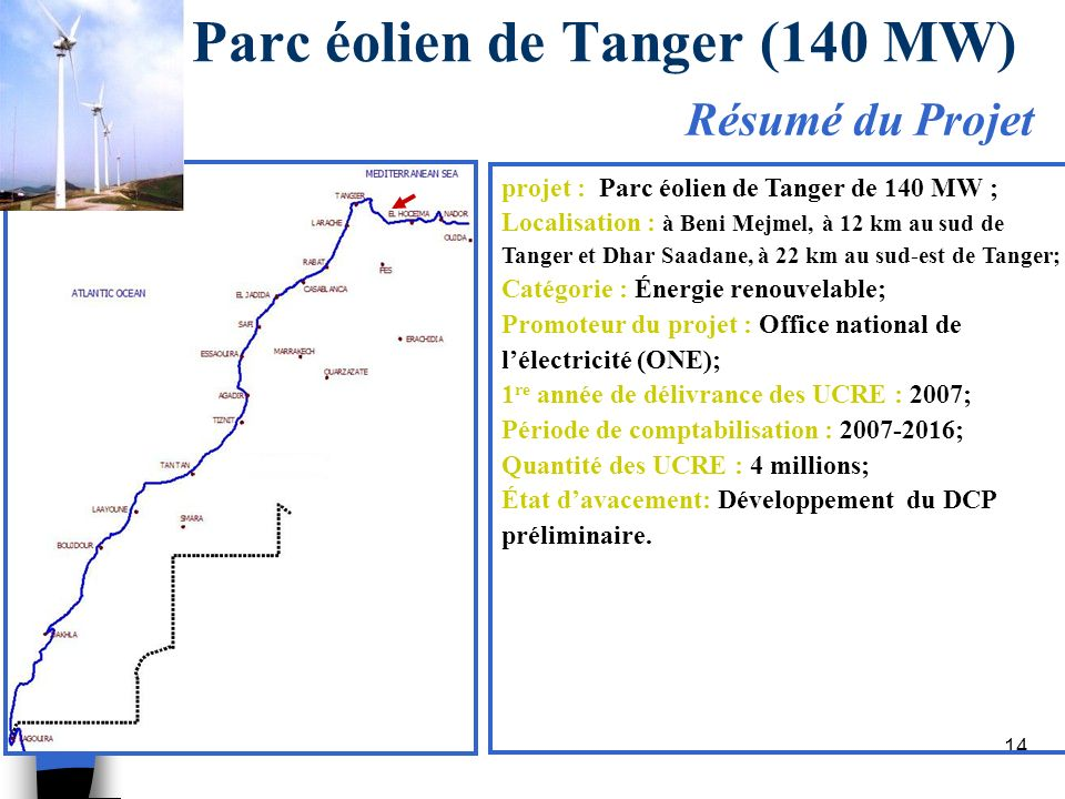 Parc éolien de Tanger (140 MW)