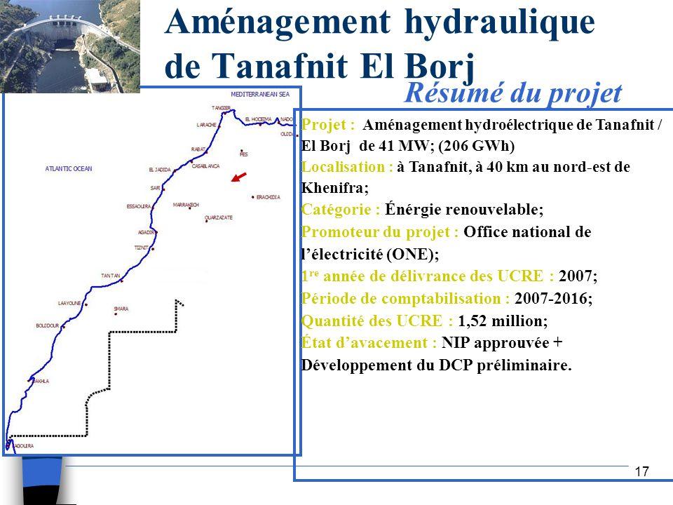 Aménagement hydraulique de Tanafnit El Borj