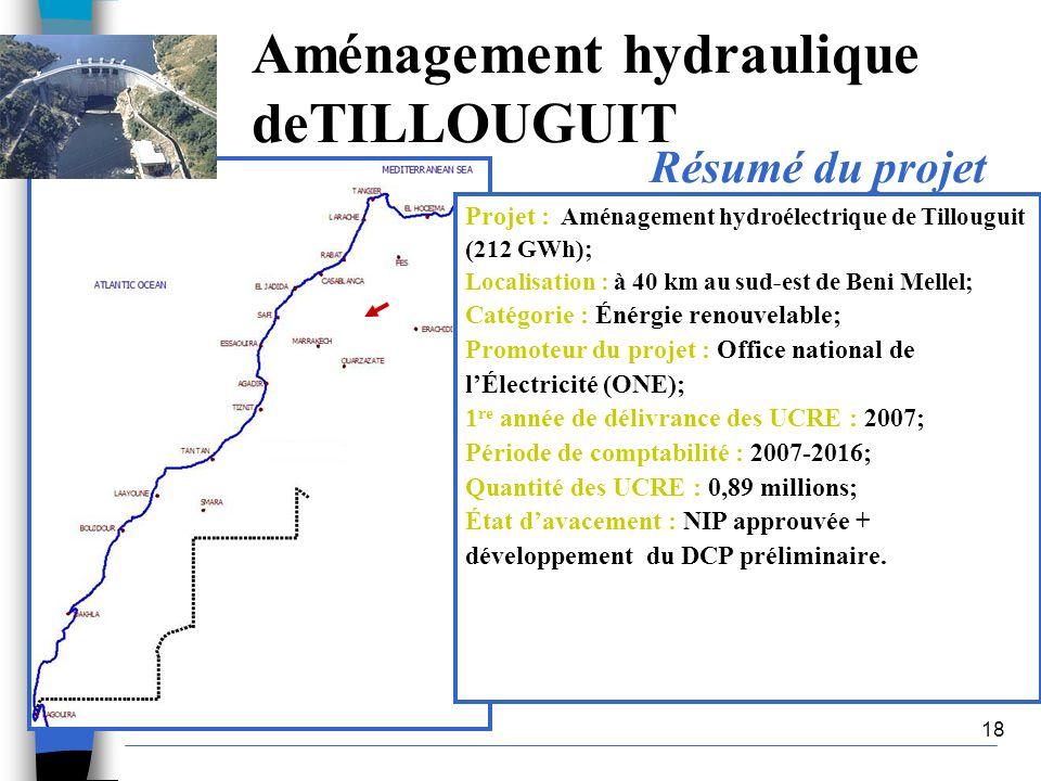 Aménagement hydraulique deTILLOUGUIT