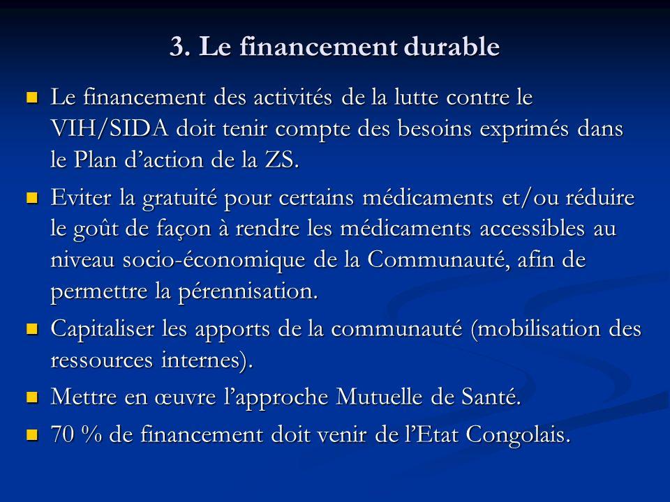 3. Le financement durable