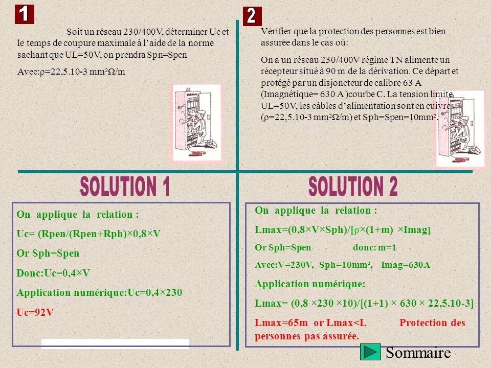 Sommaire 1 2 SOLUTION 1 SOLUTION 2 On applique la relation :