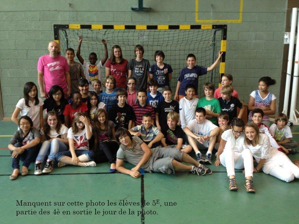 Manquent sur cette photo les élèves de 5E, une partie des 4è en sortie le jour de la photo.