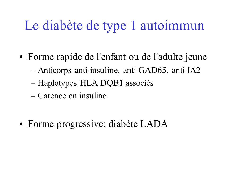Le diabète de type 1 autoimmun