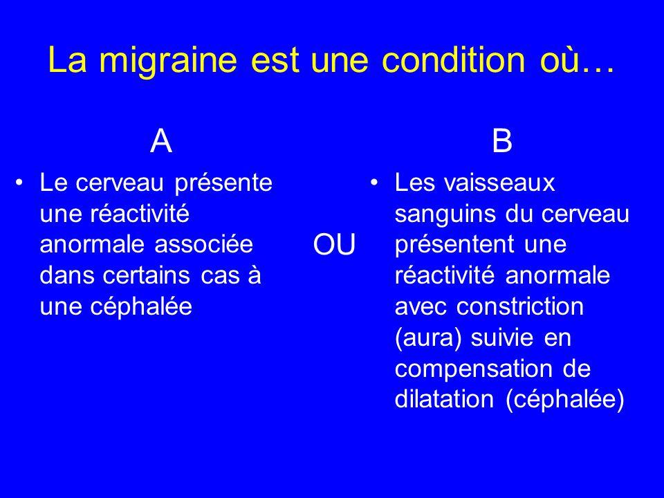 La migraine est une condition où…