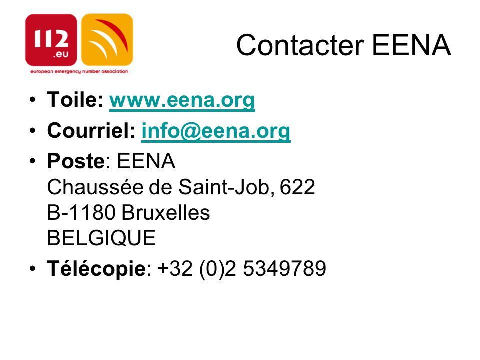 Contacter EENA Toile: www.eena.org Courriel: info@eena.org