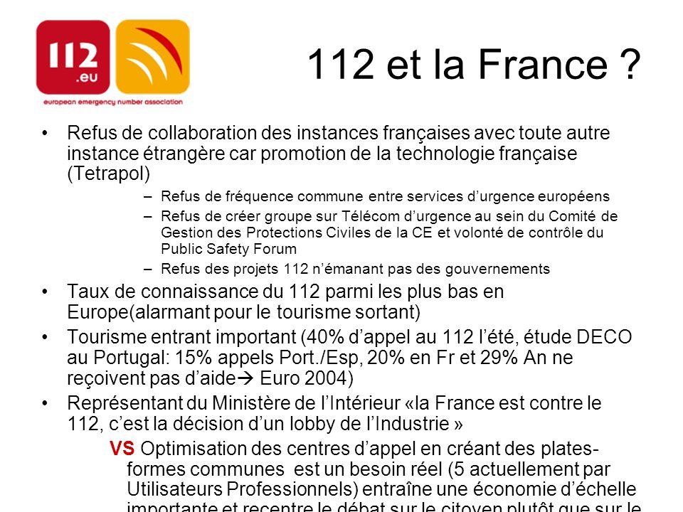 112 et la France