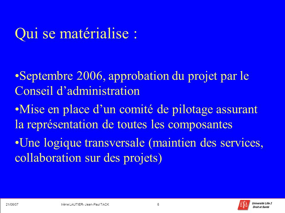 Irène LAUTIER- Jean-Paul TACK