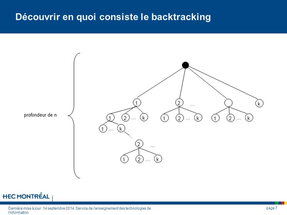 Découvrir en quoi consiste le backtracking