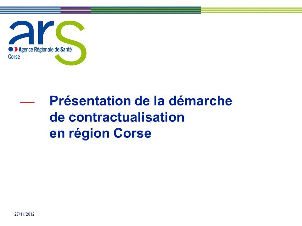 Présentation de la démarche de contractualisation en région Corse