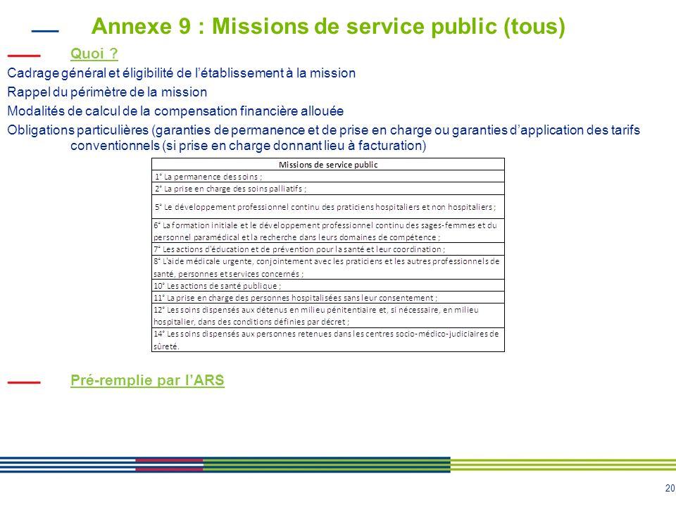 Annexe 9 : Missions de service public (tous)