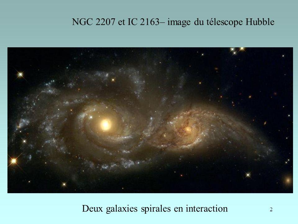 NGC 2207 et IC 2163– image du télescope Hubble
